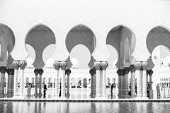 Mosque 2 (monochromia - jeremy chivers) Tags: march naturallight mosque abudhabi 2016 sheikhzayedmosque