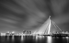 Rotterdam - Erasmus bridge (Henk Verheyen) Tags: city bridge water netherlands architecture night outside rotterdam cityscape nederland brug atnight stad buiten architectuur erasmusbrug nachtfotografie stadsgezicht avondennachtfotografie