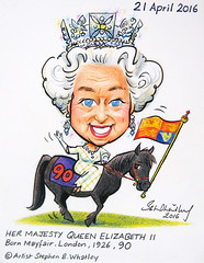 HM The Queen at 90 - Cartoon Tribute 2016 by Stephen B. Whatley (Stephen B. Whatley) Tags: england london flag cartoon pony jewels mayfair 90 commonwealth toweroflondon towerhill queenelizabeth royalfamily queenelizabethii diadem fellpony blueribbonwinner whatley royalstandard themonarchy abigfave hmthequeen stephenbwhatley towerhillunderpass artiststephenbwhatley stephenwhatley thequeenat90 thequeens90thbirthday queenat90 queenatwindsor