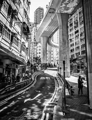 Bendy street, Hong Kong (Sunny Herzinger) Tags: street city travel urban hk canon hongkong blackwhite asia hongkongisland 6d kennedytown sigma35mmf14dghsm