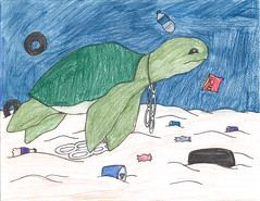 Green City, Clean Waters Art Contest: 1st Place, 9th to 12th Grades (Partnership for the Delaware Estuary) Tags: seaturtle environmentalart greencitycleanwaters philadelphiaschools estuaryenvironment cleanwaterart