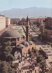 Ansichtkaart Sofia G.Dimitrov Allee mosque (dickjan thuis) Tags: architecture sofia postcard mosque allee postkarte ansichtkaart gdimitrov gdimitrovallee