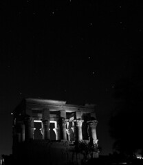 Philae Temple and Ursa Major (martin97uk) Tags: africa cruise river egypt nile aswan