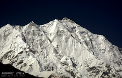 Mesmerizing Rakaposhi 7788m (Agha Asif Ali) Tags: travel pakistan mountain snow black rock landscape nikon outdoor peak ridge karakoram rakaposhi arete d7100 srete 7788m gilgitbaltistan 18140mm
