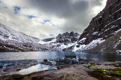 Coire Mhic Fhearchair (Neillwphoto) Tags: snow mountains water clouds rocks hills corrie torridon buttress lochan beinneighe sailmhor coiremhicfhearchair