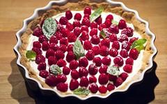 Frolla senza uova per una crostata ai lamponi e menta (RicetteItalia) Tags: yogurt menta lamponi frolla senzauova