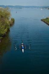 Rudern (Vierer) - hoch (swissgoldeneagle) Tags: schweiz switzerland rowing sweep ch schwyz rudern zrichsee lakezurich rowingboat ruderboot vierer zuerichsee seedamm rx100 freienbach sweepoarrowing rx100m4