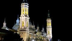 Zaragoza (Guly_Julien) Tags: espaa pilar night del de spain basilica catedral zaragoza di aragon notte spagna saragossa baslica nostra nuestra seora aragona signora saragozza