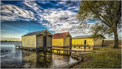 Lake Wendouree boat sheds (RissaJT_23) Tags: lake water clouds canon reflections goaway wetlands boating rowing ballarat boatshed centralhighlands boatsheds lakewendouree canon1740mm canon6d cityofballarat canoneos6d aboriginalname olympicrowing 1956olympicgames goldfieldsregion wendaaree