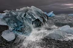 Cold Splash (Marshall Ward) Tags: winter seascape ice landscape blacksand iceland icebergs jkulsrln stormyskies 2015 icebeach nikond800 afszoomnikkor2470mmf28ged marshallward