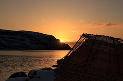 IMG_3730_best4_drybrush30%layer (daveg1717) Tags: sunrise stjohns signalhill thenarrows crabfishery photoshopfilters stjohnsharbour newfoundlandlabrador fortamherstsmallboatbasin