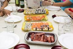 Jantar Japonês (ttt_1978) Tags: sushi sashimi nigiri linguiça gohan nighiri