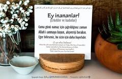 Kerim Kuran-62,9. (Oku Rabbinin Adiyla) Tags: god muslim islam religion pray east bible friday allah verse cuma kuran jumua