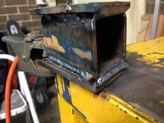 Test Weld Runs (john.and.kath) Tags: chevrolet conversion welding engine mount swap impala ls 1965 pedestal fabrication 60l l98 jrd ls2 l76