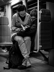 Night train readers (petrwag) Tags: street blackandwhite bw blancoynegro blackwhite czech prague praha photographing carlzeiss ernobl sel1670z