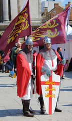 Celebrating St George's Day! (gerard.whittle1) Tags: nottingham stgeorge april23rd marketsquare nottinghamknights