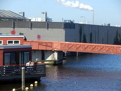 Entering the Outskirts (Quetzalcoatl002) Tags: bridge water amsterdam factory smoke houseboat compo outskirts plume