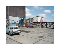 old school (ha*voc) Tags: urban 120 film amsterdam mediumformat graffiti urbandecay rangefinder citron 6x7 urbanfragments 65mm amsterdamnoord mamiya7ii lomo800