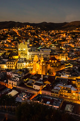 Guanajuato (Erik Lykins) Tags: old city travel light sunset urban mountains color building art history tourism latinamerica architecture night buildings landscape mexico outside outdoors photography lights evening town twilight community colorful downtown cityscape outdoor dusk traditional colonial sightseeing arts scenic cities culture nopeople landmark scene icon tourist historic unescoworldheritagesite unesco worldheritagesite hills spanish valley northamerica historical guanajuato nightscene tradition iconic mx touristattraction cultural attraction neoclassical 2015 travelphotography scenicoverlook twilightsky spanishinfluence 20mmf28 placeofinterest elpipila traveldestination scenicarea d7000 hillyterrain guanajuato4088