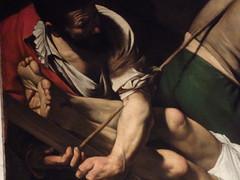 Caravaggio. Crucifixin San Pedro. Santa Mara del Popolo (vicentecamarasa) Tags: santa del san pedro popolo caravaggio mara crucifixin