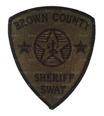 Subdued Brown County Sheriff SWAT Patch (Nate_892) Tags: county brown team police special sheriff patch emergency critical tactics swat weapons cru appleton response unit ert subdued outagamie