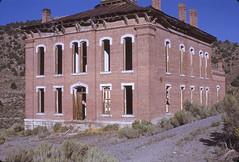 Belmont, NV - Nye County Courthouse - 1971 (tonopah06) Tags: 1971 downtown belmont nevada nye nv ghosttown courthouse kodachrome miningcamp nyecounty
