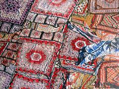 Cotton Fabrics Drying in the Sun in Jaipur (detail) (pefkosmad) Tags: india hobby puzzle photograph leisure jigsaw hasbro yannarthusbertrand pastime theearthfromtheair mbpuzzles cottonfabricsdryinginthesuninjaipur
