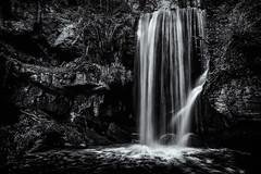 Routin Linn (Squareburn) Tags: blackandwhite mono waterfall movement north routinlinn