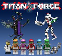Titan Force (Oky - Space Ranger) Tags: monster digital robot force power lego pacific designer go contest super transformers vehicle voltron titan rim rangers mecha kaiju mech rift rifter