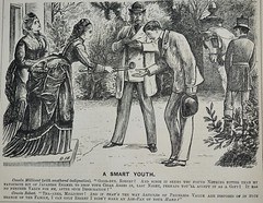 A Smart Youth!  - Punch 1873 (AndyBrii) Tags: woodcuts satire punch wit engravings 1874