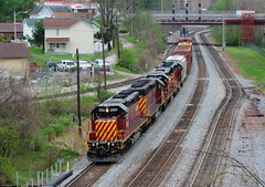 SWP 3503, 3501, 406, 4006 (Trains & Trails) Tags: railroad train diesel pennsylvania engine transportation locomotive 406 csx 3501 swp fayettecounty connellsville emd 3503 sd402 shortline 4006 standardcab southwestpennsylvaniarailroad