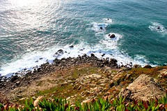Portugal, April 2016 (DSAndreich) Tags: ocean sunset portugal nature water landscape seaside rocks waves lisbon cliffs seafood seashore cascais cabodaroca