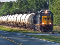 Waiting For A Train (BigTonyB) Tags: train nc factory plywood chemical csx tankcars 6149 moncure