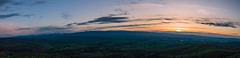 Sunrise Panorama (JustinMullenPhotos) Tags: morning flowers blue trees red wild sky panorama orange sun mountain mountains flower tree green nature beautiful grass clouds sunrise landscape early washington natural earth hike land serene rise ellensburg