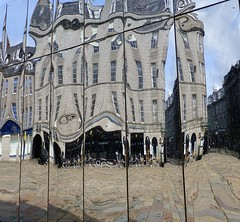 Mirrored Pavilion by Lucy Fisher (Paul Profili) Tags: art look festival design scotland again aberdeen mirrored pavilion visual castlegate lucyfisher