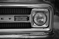 1968 Chevrolet c10 (Sultan -bin-Ahmed) Tags: leica blackandwhite bw chevrolet film monochrome car 50mm blackwhite scanner indoor apo 350 ii vehicle f2 20 m3 cms v8 x5 c10 adox imacon flextight adotech