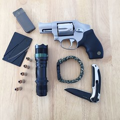 """""""Tactical Survival Kit"""" In today's very dangerous world, never leave home without it!"""" Tactical Tactical Gear Survival Survivalkit Gun Tacticalflashlight Knife Paracord Lighter Secondamendment (bradhodges09) Tags: gun knife lighter survival survivalkit tactical secondamendment paracord tacticalgear tacticalflashlight"""