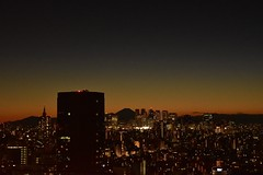 新宿と富士山 (ishizima) Tags: city sky urban mountain japan architecture night tokyo dusk mtfuji suset 文京シビックセンター展望ラウンジ