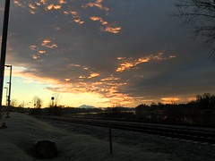 Fire in the Clouds (Timo Juhani) Tags: clouds sunrise bc mapleridge fraserriver burningclouds