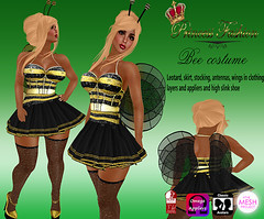 bee costume (princessfashion100) Tags: life mesh body spirit interior omega free sl second hunter marketplace breathe uber belleza banned tmp lolas reign freebie ryca dollarbie kitja pinkfuel wasabipills lelutka appliers labelmotion tagsslink