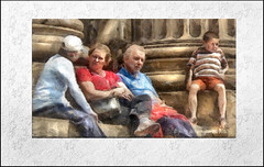 FAMILY CAMEO (Derek Hyamson) Tags: family liverpool candid cameo impression hdr stgeorgeshall lordmayorsparade