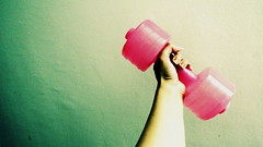 water dumbbells it must be, when i invent reasons to not go to the gym only 5 floors below mine (I m Peace) Tags: pink color green texture wall goal arm health workout weight odc 2016 resolve explored ourdailychallenge