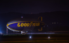 a sure sign the big game is in town (pbo31) Tags: california winter black game color sport night dark football airport nikon aviation ad bayarea blimp eastbay tied february superbowl livermore goodyear alamedacounty airfield 2016 boury pbo31 d810 sb50