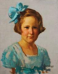 Amorsolo: Portrait of a Girl (Leo Cloma) Tags: religious gallery furniture auction philippines images ephemera leon auctions makati autographs manuscripts cloma