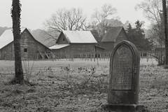 Wintry 1870 Gravestone (jeanaallen) Tags: virginia tombstone barns 1870 wintry