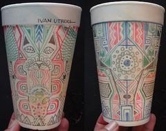 dibujo en vaso a lapicero (ivanutrera) Tags: pen sketch drawing draw dibujo vaso ilustracion lapicero boligrafo dibujoalapicero dibujoenboligrafo