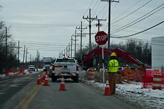 Stop (ramseybuckeye) Tags: road ohio hardhat amanda sign yellow construction lima fort fahrenheit stop 17 worker vest flagger degrees 45804