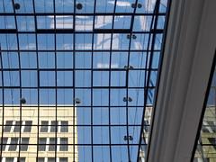 Berliner Himmel (onnola) Tags: blue roof sky berlin glass facade mall shopping germany deutschland himmel blau passage dach mitte glas fassade glasdach einkaufszentrum lp12 guessedberlin gwbandtor mallofberlin