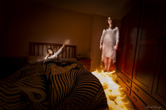 Appearance / Aparicin (Hornisterol) Tags: painting enero paranormal nocturnas sombras miedo aparicin ligh inquietante pnico 2016 linterna posesin posesion manueljrrega