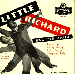 3 - Little Richard - Rip It Up - EP -UK - 1957 (Affendaddy) Tags: uk london 1956 littlerichard tuttifrutti decca extendedplay ripitup longtallsally readyteddy collectionklaushiltscher vinyleps usrocknroll vinyl4tracksingle reo1074